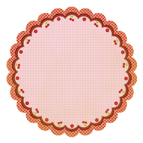 Best Creation - Mom's Kitchen - Sweet Cherry Pie Die Cut Glitter Paper